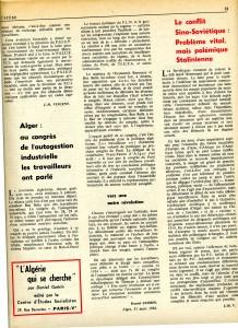 Autogestion Algérie 1964 Daniel Guérin