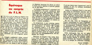 Daniel Guerin - article avril 1964 - congrès FLN