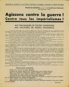 1935 tract contre l'Union Sacrée