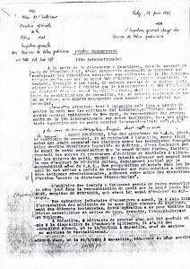 Condamnation pour menées Trotskistes