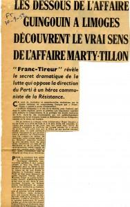 FT 30 septembre 1952 Georges Guingoin