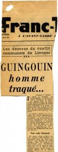 FT Affaire Guingouin 1er octobre 1952