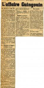 FT Affaire Guingouin 1er octobre 1952  suite