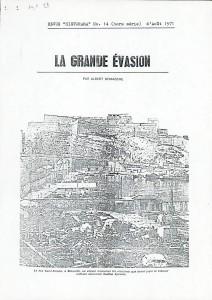La Grande Evasion par Albert Demazière 1