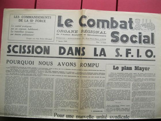 La combat social - Journal ASR - Yves Dechezelles