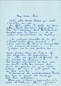 Lettre Eliane de Serres (2) recto au sujet accrochage Maroc Algérie verso