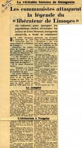 Paris-Presse 1962 Affaire Guingouin