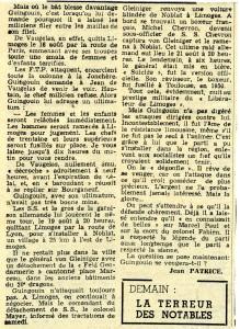 Paris-Presse 1962 Affaire Guingouin suite et fin