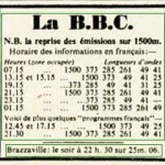 Horaires BBC TSF
