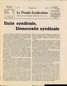 Le Peuple syndicaliste 1944