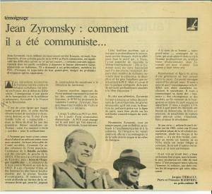 Article Zyromski - Françoise Bleitreu - Jacques Bleibtreu