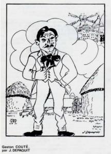 Gaston Couté par Depaquit