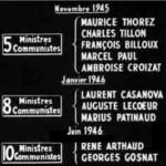 Ministres communistes 1945-1946
