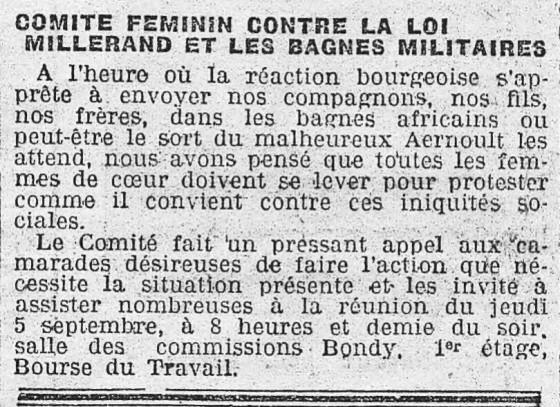 l'Humanité 4 septembre 1912