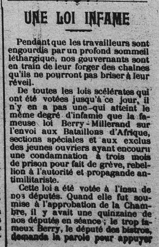 page1 L'Aube sociale  organe de la Fédération socialiste du Loiret (S.F.I.O.