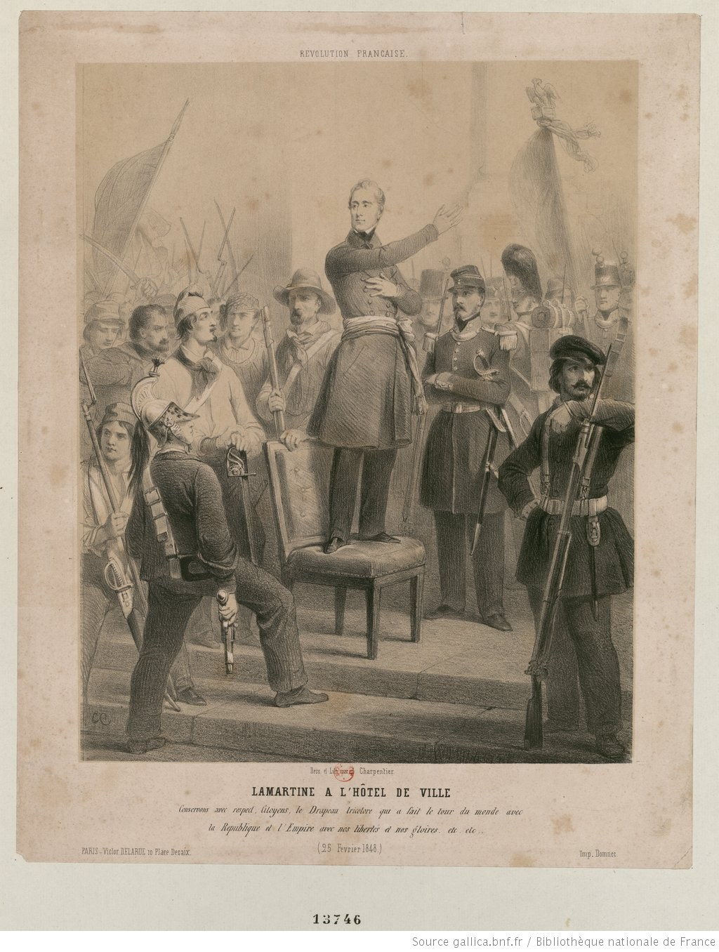 Lamartine à l'Hôtel de ville (1848)- Gallica (BnF)