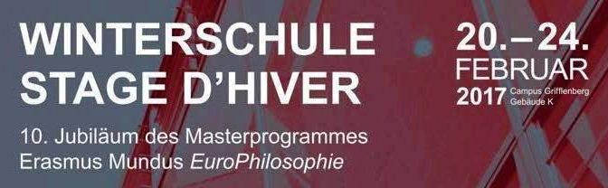 STAGE D'HIVER 2017 // WINTERSCHULE 2017 — Programme / Programm
