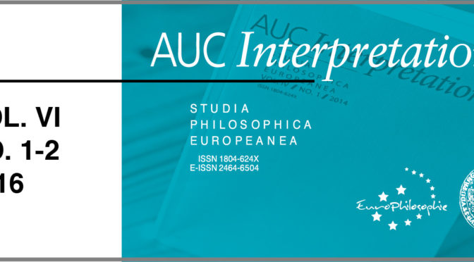 AUC Interpretationes – Vol. VI / No. 1-2 / 2016