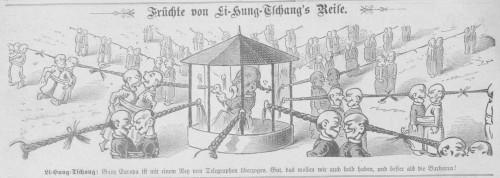 """""""Früchte von Li Hung-Tschang's Reise"""" (Kikeriki 23.7.1896)"""