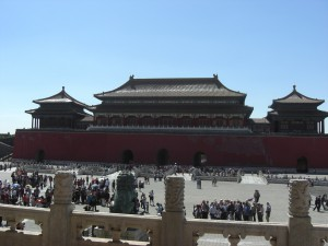 """Wumen 午門 (""""Meridian Gate""""), seen from the north"""