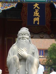 Konfuzius-Statue im Konfuzius-Tempel in Beijing - Foto: Georg Lehner