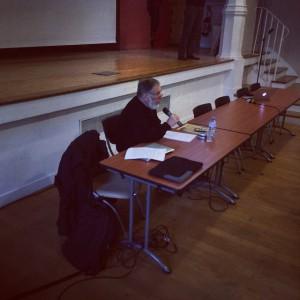 Yves Delaporte lors de sa conférence