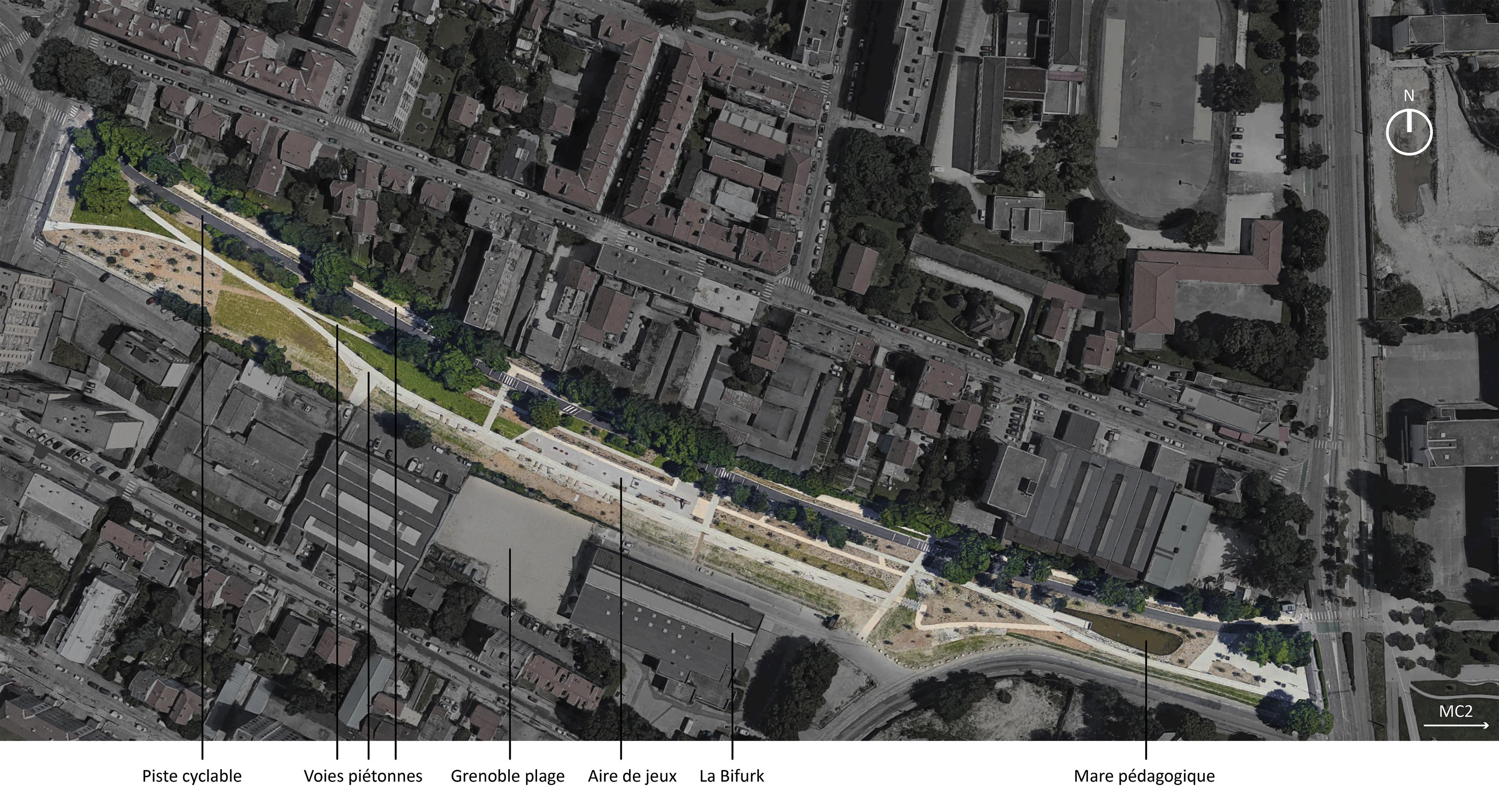 Localisation du Parc Flaubert, avril 2019, CC BY NC SA