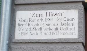 Isolani-Haus Plakette