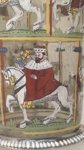 Humpen von 1611: Der Kurfürst von der Pfalz (Detail).