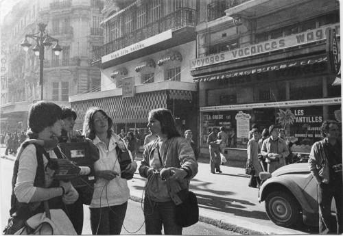"""Tournage du film """"Avortement : ils appellent ça I.V.G."""" (1979) - crédits photo : Hélène Lioult"""