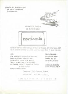 Annonce de la diffusion de Monté-Vidéo le 3 janvier 1975 à Petit-Quevilly