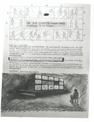 """Présentation de l'installation """"Un de chute"""" (1980) - Fonds Michel Jaffrennou / BnF"""