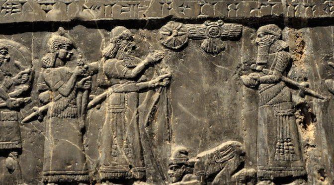 the_assyrian_king_shalmaneser_iii_receives_tribute_from_sua_king_of_gilzanu_the_black_obelisk