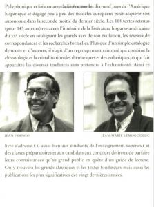 Anthologie de la Littérature Hispano-Américaine du XXe siècle (2)