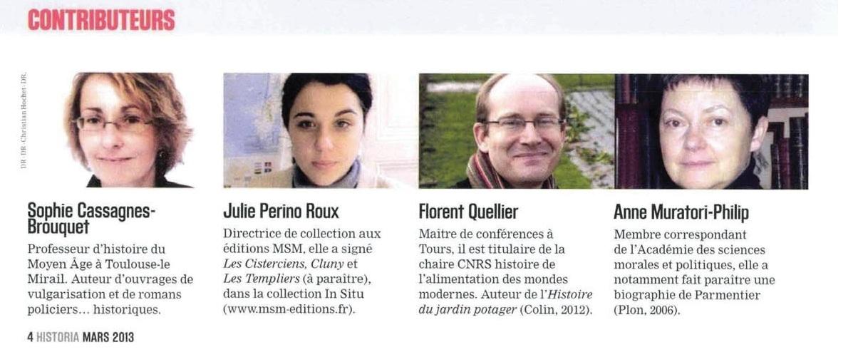 contributeurs Historia 795 - 2013 (2)