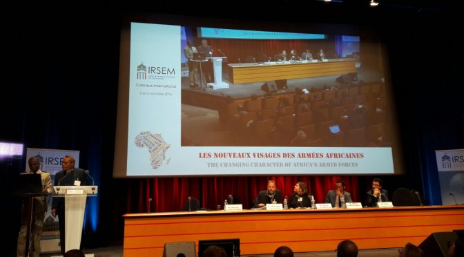 "Dr Hassan Elhaj Ali's participation to the conference ""The changing character of Africa's armed forces"" held by IRSEM (Paris)"