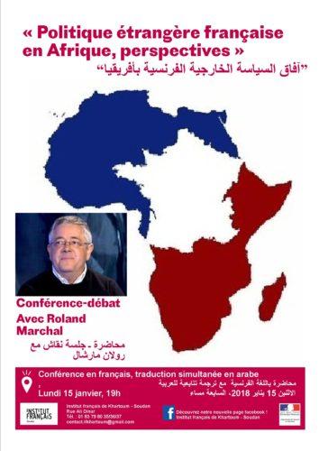 """Conférence de Roland Marchal « Politique étrangère française en Afrique, perspectives"""""""