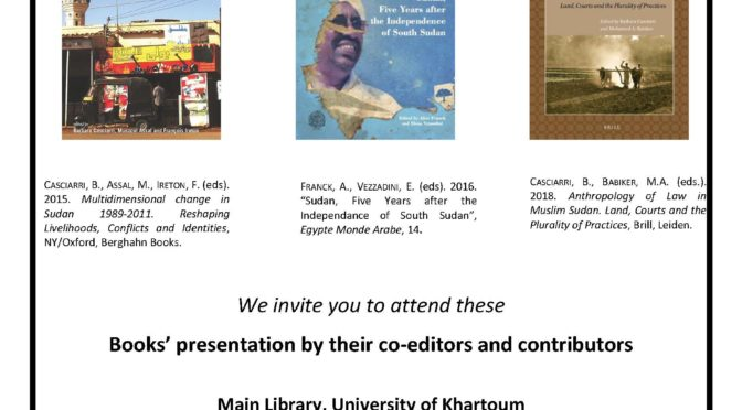 Books Presentations on Contemporary Sudan – University of Khartoum