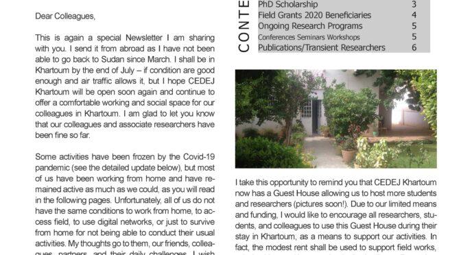 Newsletter 9 Cedej Khartoum