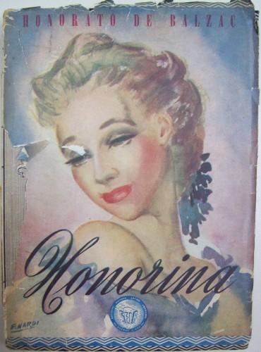 Jaquette de Honorina, Honorina (Pierre Grassou – El bolsillo), Illustr. de E. Nardi, Buenos Aires, Sociedad Editora Latino-Americana, 1945. (Biblioteca Nacional de la República Argentina)