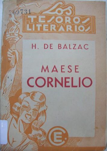 Fig. 2: Couverture de Maese Cornelio, illustr. de Fossey, Buenos Aires, Croquis, 1941. (Biblioteca Nacional de la República Argentina)