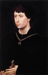 Margaret's husband, Charles the Bold, Duke of Burgundy Rogier van der Weyden (1399/1400–1464) [Public domain], via Wikimedia Commons