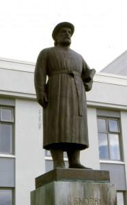 Snorris Statue in Reykholt (Bildhauer: Gustav Vigeland) Foto: Jan van Nahl