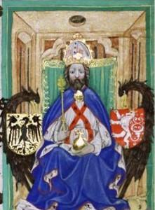 Darstellung Karls IV. aus dem Gelnhauser Codex (Quelle: wikimedia commons)