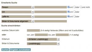 Das Suchinterface des Göttinger Papsturkundenprojekts (www.papsturkunden.de).