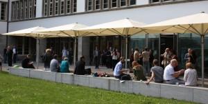 Der Innenhof der Neuen Universität während des Heidelberger Mittelaltertages. Foto: M. Wegner/C. Lahme.