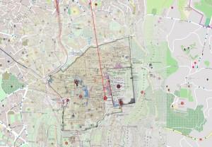 Eingebundene TAVO-Karte von Jerusalem (1099-1750)