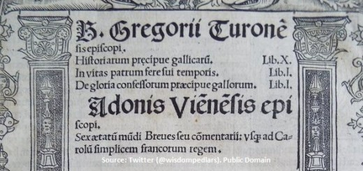 Beati-Gregorii-Turonensis-episcopi-Historiarum-praecipue-gallicarum-libri-X-editio-princeps-1512-oberer-Ausschnitt-neu mit Quelle