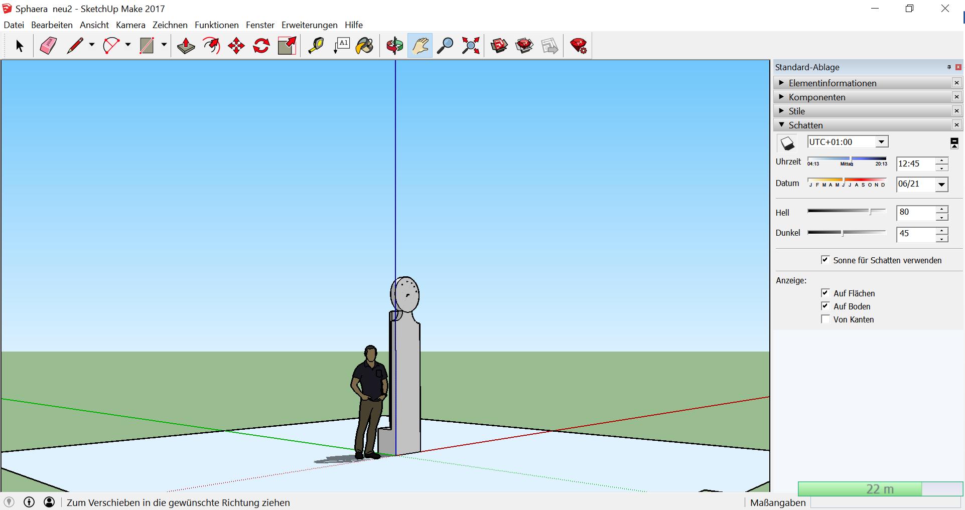 Bild 11: Konstruktion der Sphaera mit Sketchup (eigener Screenshot)