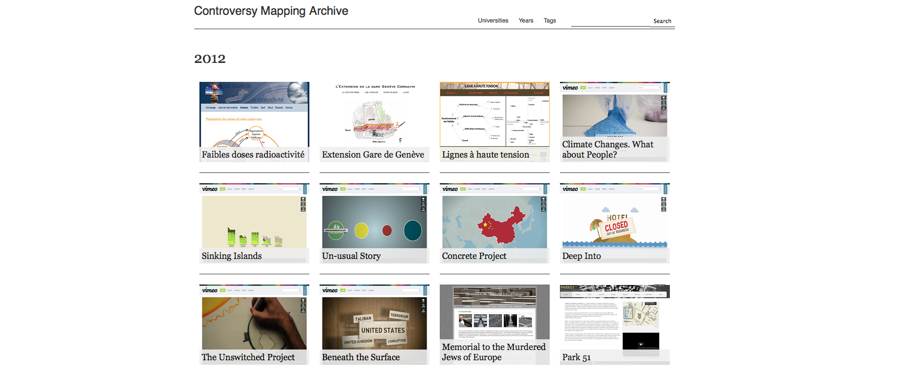 Controversy Mapping Archive